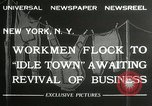 Image of American unemployed workmen New York City USA, 1932, second 5 stock footage video 65675063353