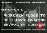 Image of American unemployed workmen New York City USA, 1932, second 6 stock footage video 65675063353