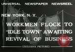 Image of American unemployed workmen New York City USA, 1932, second 9 stock footage video 65675063353
