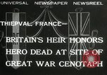 Image of ceremonies at Cenotaph Thiepval France, 1932, second 1 stock footage video 65675063354