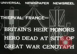 Image of ceremonies at Cenotaph Thiepval France, 1932, second 3 stock footage video 65675063354