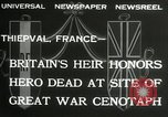 Image of ceremonies at Cenotaph Thiepval France, 1932, second 5 stock footage video 65675063354