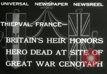 Image of ceremonies at Cenotaph Thiepval France, 1932, second 6 stock footage video 65675063354