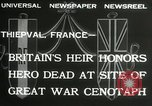 Image of ceremonies at Cenotaph Thiepval France, 1932, second 8 stock footage video 65675063354