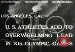 Image of Olympic games Los Angeles California, 1932, second 1 stock footage video 65675063355