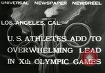 Image of Olympic games Los Angeles California, 1932, second 2 stock footage video 65675063355