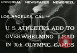 Image of 1932 Olympic games Los Angeles California USA, 1932, second 3 stock footage video 65675063355