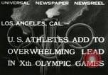 Image of Olympic games Los Angeles California, 1932, second 4 stock footage video 65675063355