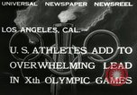 Image of Olympic games Los Angeles California, 1932, second 5 stock footage video 65675063355