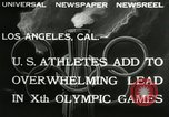 Image of Olympic games Los Angeles California, 1932, second 6 stock footage video 65675063355