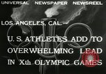 Image of Olympic games Los Angeles California, 1932, second 7 stock footage video 65675063355