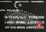 Image of Miss Universe contest Spa Belgium, 1932, second 7 stock footage video 65675063357