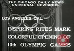 Image of Olympic games Los Angeles California USA, 1932, second 7 stock footage video 65675063359