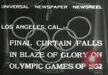 Image of Olympic games Los Angeles California USA, 1932, second 4 stock footage video 65675063362