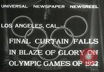 Image of Olympic games Los Angeles California USA, 1932, second 5 stock footage video 65675063362