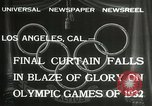 Image of Olympic games Los Angeles California USA, 1932, second 6 stock footage video 65675063362