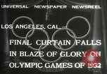 Image of Olympic games Los Angeles California USA, 1932, second 7 stock footage video 65675063362
