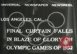 Image of Olympic games Los Angeles California USA, 1932, second 8 stock footage video 65675063362