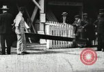 Image of Harvard 8 man crew participating in regatta on Thames River at New Lon New London Connecticut USA, 1900, second 1 stock footage video 65675063383