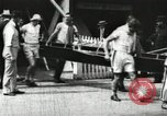 Image of Harvard 8 man crew participating in regatta on Thames River at New Lon New London Connecticut USA, 1900, second 4 stock footage video 65675063383