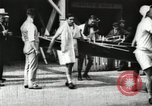 Image of Harvard 8 man crew participating in regatta on Thames River at New Lon New London Connecticut USA, 1900, second 7 stock footage video 65675063383