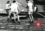 Image of Harvard 8 man crew participating in regatta on Thames River at New Lon New London Connecticut USA, 1900, second 12 stock footage video 65675063383