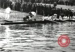 Image of Scenes from an annual Harvard and Yale rowing race on the Thames River New London Connecticut USA, 1900, second 4 stock footage video 65675063384