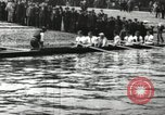 Image of Scenes from an annual Harvard and Yale rowing race on the Thames River New London Connecticut USA, 1900, second 7 stock footage video 65675063384