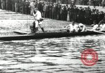 Image of Scenes from an annual Harvard and Yale rowing race on the Thames River New London Connecticut USA, 1900, second 9 stock footage video 65675063384