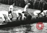 Image of Scenes from an annual Harvard and Yale rowing race on the Thames River New London Connecticut USA, 1900, second 11 stock footage video 65675063384