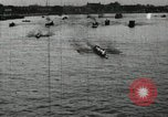 Image of Harvard and Yale crews race in their annual rowing competition in New  New London Connecticut USA, 1900, second 9 stock footage video 65675063385