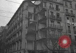 Image of bomb destroyed building Madrid Spain, 1945, second 1 stock footage video 65675063414