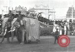 Image of Procession with decorated elephant Bombay India, 1932, second 7 stock footage video 65675063442