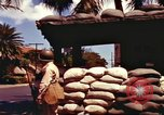 Image of Soldier standing guard at sandbagged post Honolulu Hawaii USA, 1942, second 11 stock footage video 65675063477
