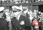 Image of USS Nautilus SSN-571 commissioning Groton Connecticut United States USA, 1954, second 3 stock footage video 65675063493