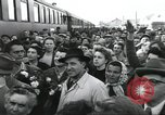 Image of Large crowd greets passenger arriving at train station Soviet Union, 1953, second 12 stock footage video 65675063498