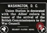 Image of Arthur Balfour Washington DC USA, 1917, second 1 stock footage video 65675063530