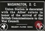 Image of Arthur Balfour Washington DC USA, 1917, second 4 stock footage video 65675063530