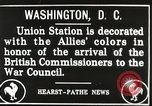Image of Arthur Balfour Washington DC USA, 1917, second 10 stock footage video 65675063530