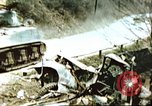 Image of blown railroad track Germany, 1945, second 2 stock footage video 65675063557