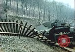 Image of blown railroad track Germany, 1945, second 7 stock footage video 65675063557