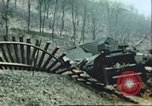 Image of blown railroad track Germany, 1945, second 8 stock footage video 65675063557