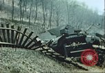 Image of blown railroad track Germany, 1945, second 9 stock footage video 65675063557