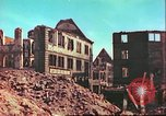 Image of bomb damaged building Wurzburg Germany, 1945, second 8 stock footage video 65675063593
