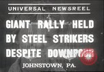 Image of steel strikers Johnstown Pennsylvania USA, 1937, second 1 stock footage video 65675063621