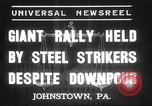 Image of steel strikers Johnstown Pennsylvania USA, 1937, second 2 stock footage video 65675063621
