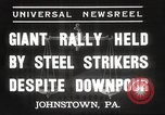 Image of steel strikers Johnstown Pennsylvania USA, 1937, second 3 stock footage video 65675063621
