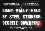 Image of steel strikers Johnstown Pennsylvania USA, 1937, second 4 stock footage video 65675063621