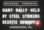 Image of steel strikers Johnstown Pennsylvania USA, 1937, second 7 stock footage video 65675063621