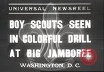 Image of American boy scouts Washington DC USA, 1937, second 1 stock footage video 65675063623